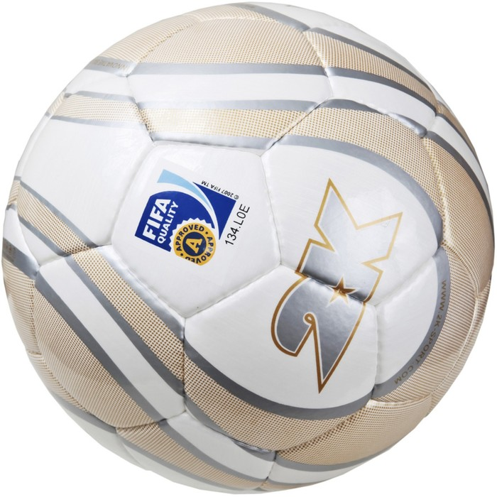 Мяч футбольный 2K Sport Parity Gold FIFA Approved, white/gold/silver, размер 5