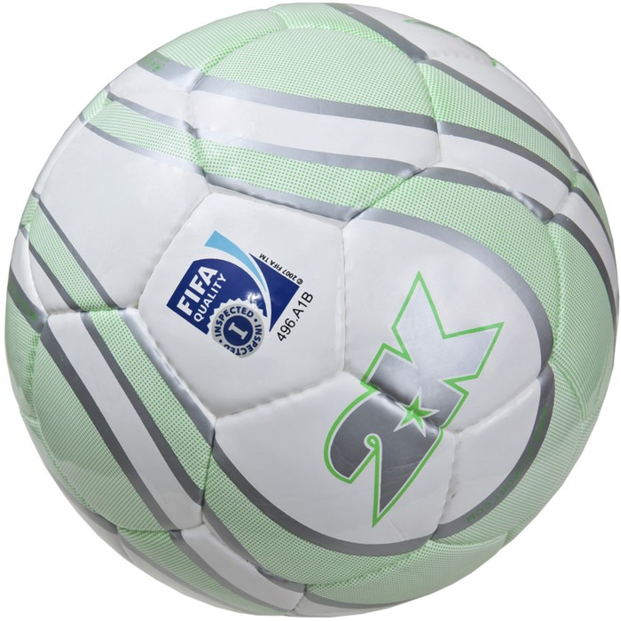 Мяч футбольный 2K Sport Parity Lime FIFA Inspected, white/silver/green, размер 5